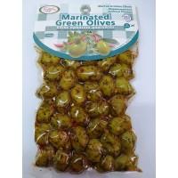 Ελιές Πράσινες Μαρινάτες Κρήτης 250γρ