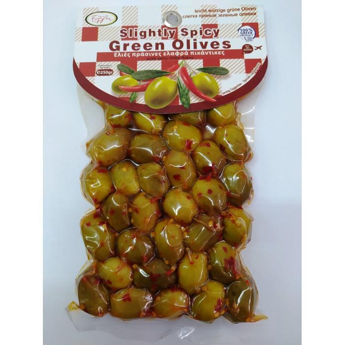 Ελιές Πράσινες Ελαφρά Πικάντικες Κρήτης 250γρ