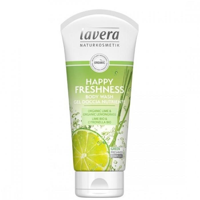 Βιολογικό Αφρόλουτρο Happy Freshness με Lime & Λεμονόχορτο 200ml